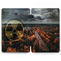 Чехол книжка, обложка для Samsung Galaxy Tab (Радиация, Припять) планшеты A8 9.7 E9.6 8.0 S4 S3 S2 A10.5 A10.1