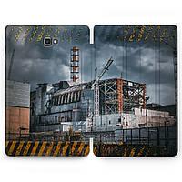 Чехол книжка, обложка для Samsung Galaxy Tab (Чернобыльская станция) планшеты A8 9.7 E9.6 8.0 S4 S3 S2 A10.5 A10.1