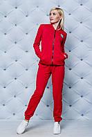 Сортивный костюм женский красный. Большие размеры!