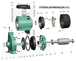 """Насос центробежный 380В 4.0кВт Hmax 49м Qmax 450л/мин 2"""" LEO 3.0 (7752693), фото 2"""