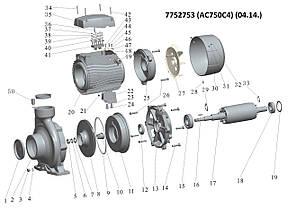 """Насос центробежный 380В 7.5кВт Hmax 52,5м Qmax 900л/мин 4""""х3"""" LEO 3.0 (7752753), фото 2"""