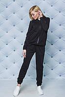 Сортивный костюм женский черный. Большие размеры!