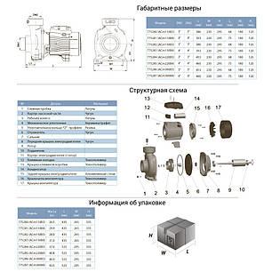 """Насос центробежный 2.2кВт Hmax 17.5м Qmax 1100л/мин 4"""" LEO 3.0 (775285), фото 2"""