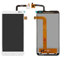 Дисплей (экран) для телефона Fly IQ4514 Quad Evo Tech 4 + Touchscreen White