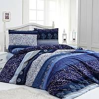 Постельное белье Lighthouse бязь-голд Night Blue Двуспальный евро комплект