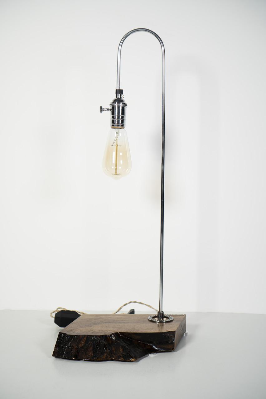 Декоративна лампа Pride&Joy із натурального дерева