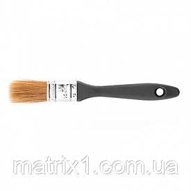 """Кисть плоская """"Евро"""" 1 (25 мм)"""", натуральная щетина, пластмассовая ручка МТХ"""