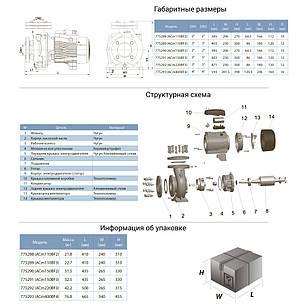 """Насос центробежный 1.5кВт Hmax 15м Qmax 1000л/мин 3"""" LEO 3.0 (775291), фото 2"""