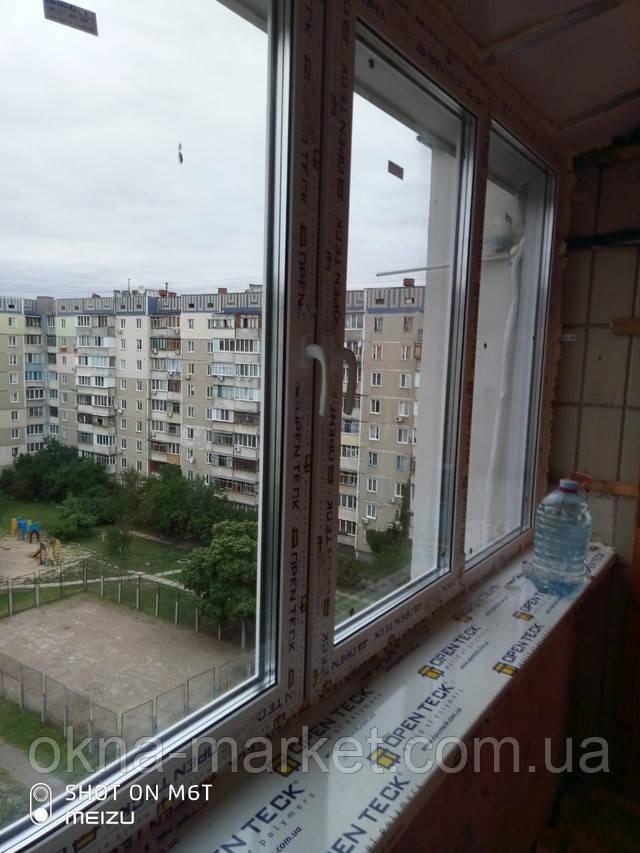 Остекление и вынос балкона по подоконнику Киев - бригада 4