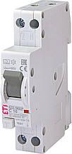 Дифференциальный автомат ETI 1P+N С 16A 6kA 10mA KZS-1M SUP A подкл. сверху (2175854)