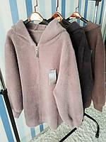 Женское пальто с капюшоном из шерсти альпака, фото 1