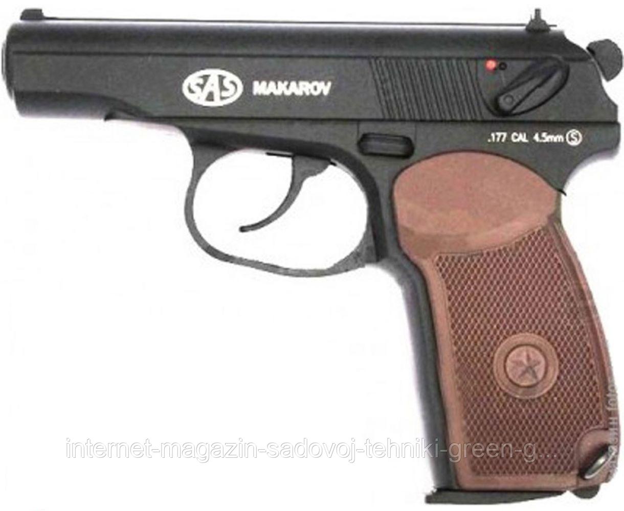 Пистолет пневматический Sas Makarov Blowback (КМ-44AHN)