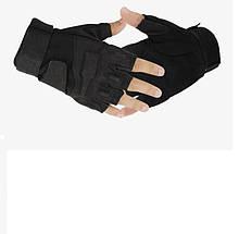 Тактичні рукавички Blackhawk безпалі чорні
