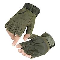 Тактические перчатки Blackhawk беспалые  хаки
