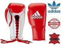 Перчатки боксерские Adidas Glory профессиональные на шнурках (ADIBC06, красные), фото 1