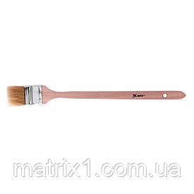 """Кисть радиаторная 2"""" (50 мм), натуральная щетина, деревянная ручка MATRIX"""