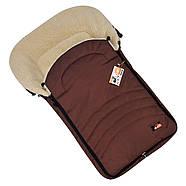 Конверт чехол коричневый на овчине в коляску или на санки 95*45см MAXI For Kids, фото 3