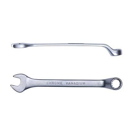Ключ рожково-накидной глубокий 15мм CrV satine Sigma (6024151), фото 2
