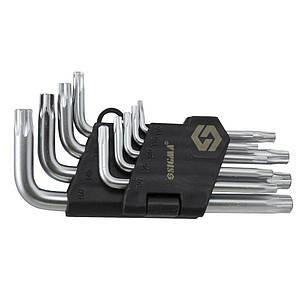 Ключи TORX 9шт T10-T50 CrV (короткие с отверстием) Sigma (4022211), фото 2