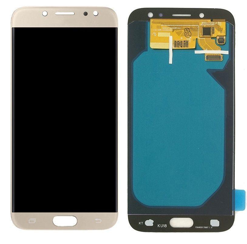 Дисплей (экран) для телефона Samsung Galaxy J7 J730 2017, J730F (Super AMOLED) + Touchscreen Original Gold
