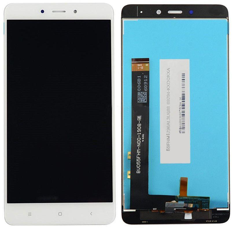 Дисплей (экран) для телефона Xiaomi Redmi Note 4 MediaTek + Touchscreen White