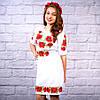 """Жіноча сукня з вишивкою хрестиком """"Маки"""", фото 2"""