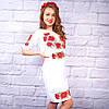 """Жіноча сукня з вишивкою хрестиком """"Маки"""", фото 4"""