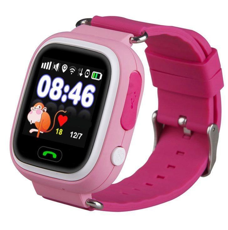 Детские умные смарт часы Q90, цветной сенсорный дисплей с GPS