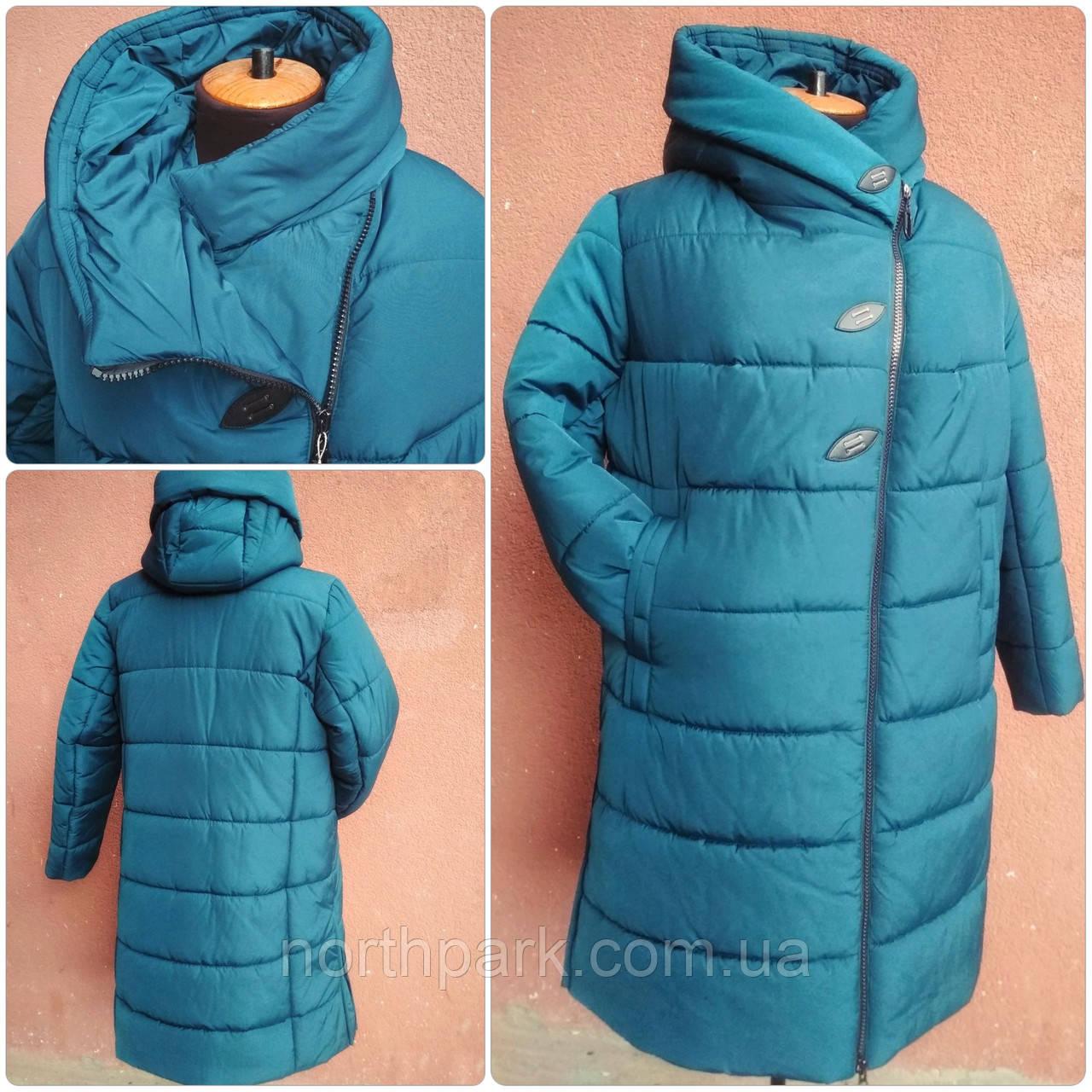 Красивое зимнее женское пальто баталл VS В-911