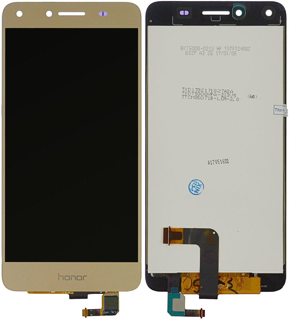 Дисплей (экран) для телефона Huawei Y5 II, Honor 5, Honor Play 5, CUN-U29, CUN-L21 + Touchscreen Original Gold