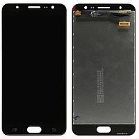 Дисплей (экран) для телефона Samsung Galaxy J7 Prime G610 (Super AMOLED) + Touchscreen Original Black