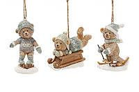Декоративная статуэтка-подвеска Спортивный мишка 8.5см