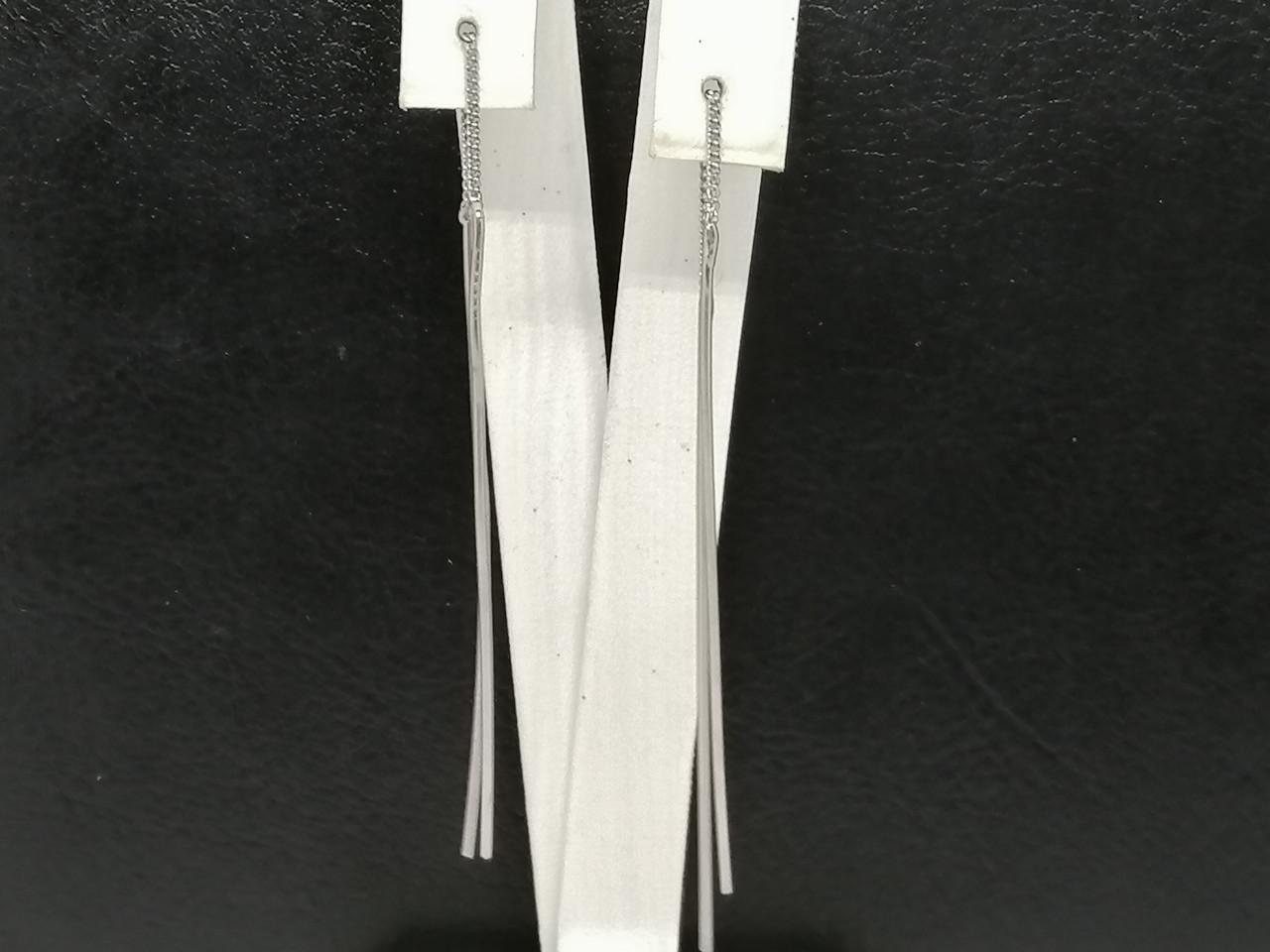 Срібні сережки-протяжки. Артикул 2618Р