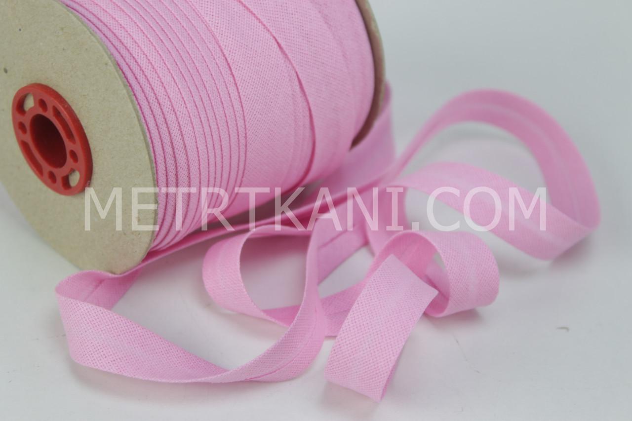 Косая бейка розовая 100% хлопок № КБ-03