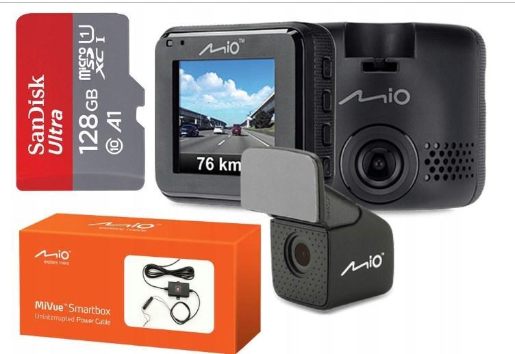Видеорегистратор MIO MiVue C380 Dual FHD +128GB +Smartbox II