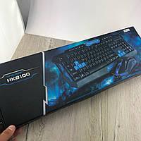 Беспроводной игровой комплект клавиатура+мышь HK8100 для ПК компьютера и ноутбука геймерский комплект