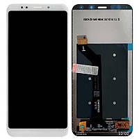 Дисплей (экран) для телефона Xiaomi Redmi 5 Plus + Touchscreen Original White