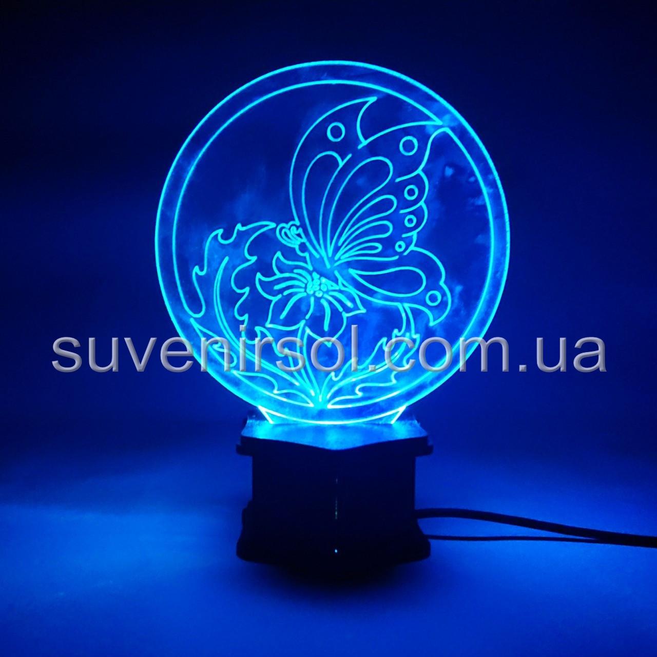 3D ночник Бабочка №3