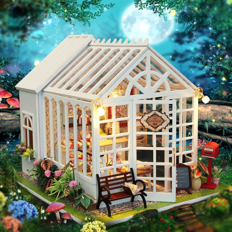 """3D Румбокс Кафе """"Оранжерея"""" - Кукольный Дом Конструктор / DIY Doll House от CuteBee"""