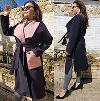 Женское кашемировое пальто большого размера.Размеры:48-58.+Цвета, фото 1
