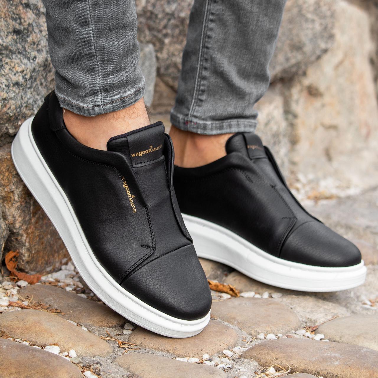 Мужские черные кроссовки Wagoon Чоловічі Кросівки Размер 40,41,42,44