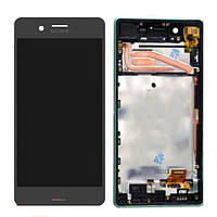 Дисплей (экран) для телефона Sony Xperia X F5121, F5122, Xperia X Performance F8131, F8132 + Touchscreen with frame (original) Grey