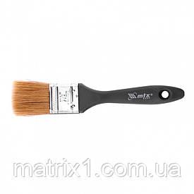"""Кисть плоская """"Евро"""" 1,5"""" (38 мм), натуральная щетина, пластмассовая ручка МТХ"""