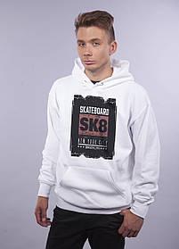 "Толстовка белая LOYS ""SK8"" XXL"