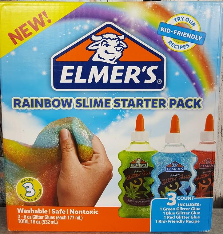"""Набор для изготовления слаймов """"Радуга"""" Клей Элмерс 3 шт. 530мг, Elmer's Rainbow slime starter kit. Оригинал"""