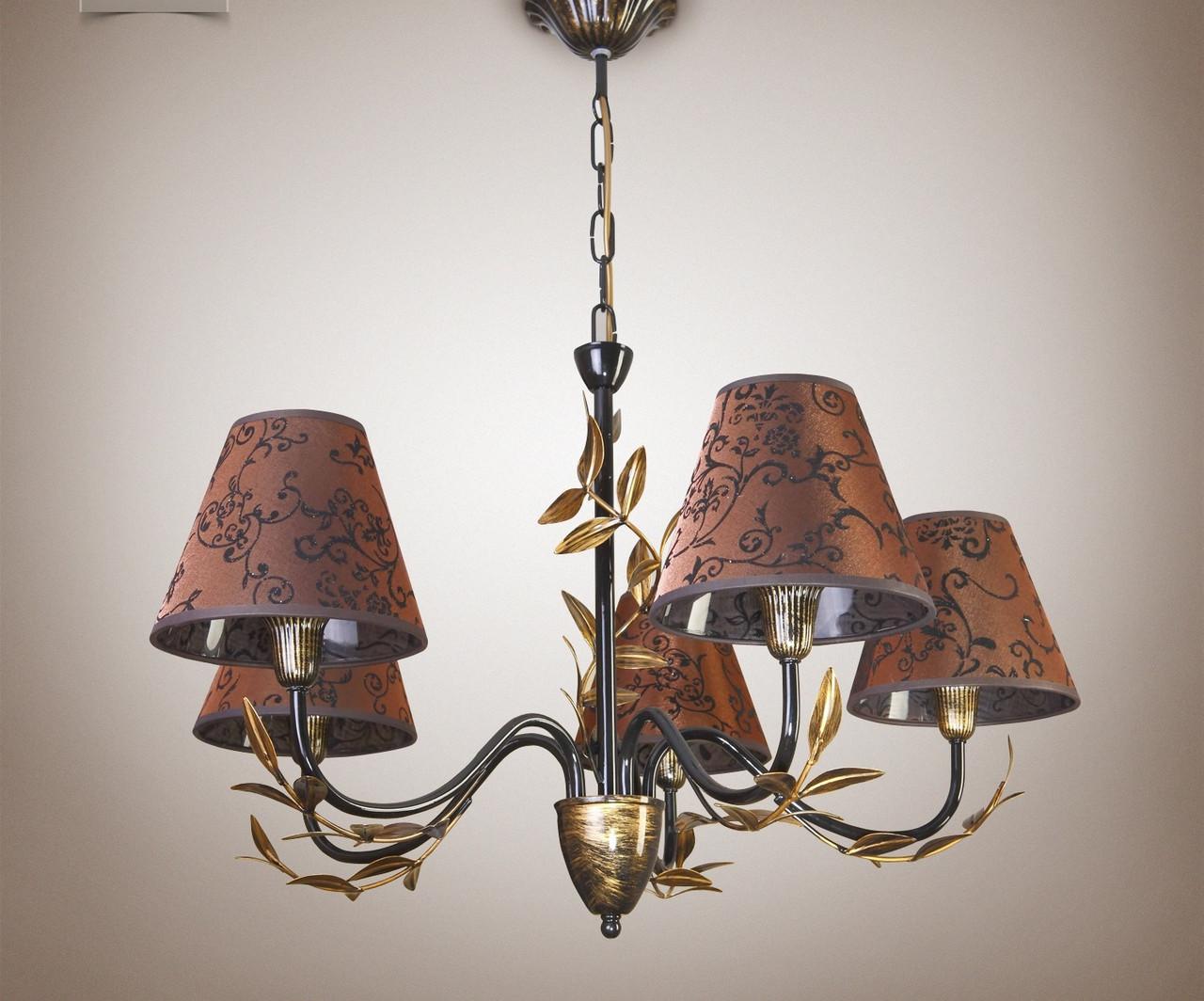 Люстра для зала, спальни 5-ти ламповая  11605-1