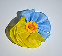 Бантики на волосы жовто-блакитні
