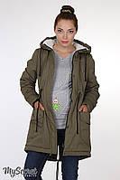 Куртка-парка для беременных Inira хаки, фото 1