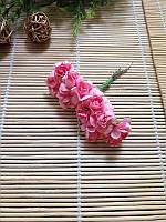 Букет роза бумажная, розовая