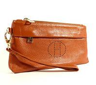 Кошелек-клатч кожаный Hermes 1905 коричневый